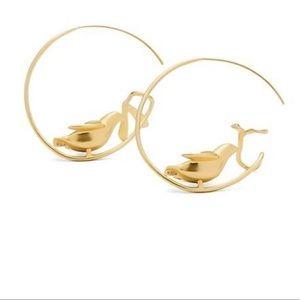NIB Tory Burch Golden Dove Earrings